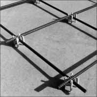 Single Intersecting Rebar Construction & Oxford Lift System: Grid-Lok - Rebar Chair